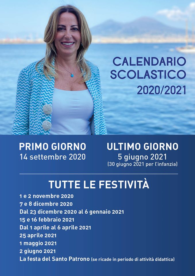 Regione Campania: approvato il Calendario scolastico 2020/2021.